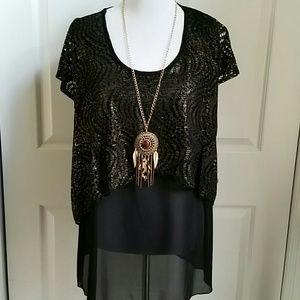 Top With Necklace Sz 1X NWOT
